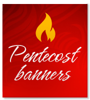 Church Banners designed for Pentecost